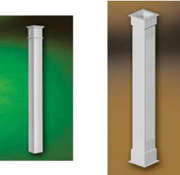 Fypon urethane decorative millwork for Fypon column
