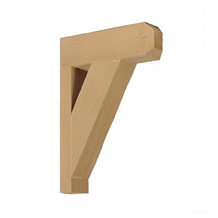 Urethane bkt18x18x3x1s textured bracket for Fypon wood beams