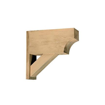 Bkt21x20x6s fypon bracket for Fypon wood beams