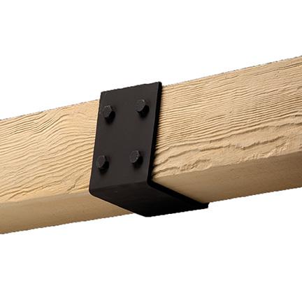 Fypon beam straps smooth for Fypon wood beams