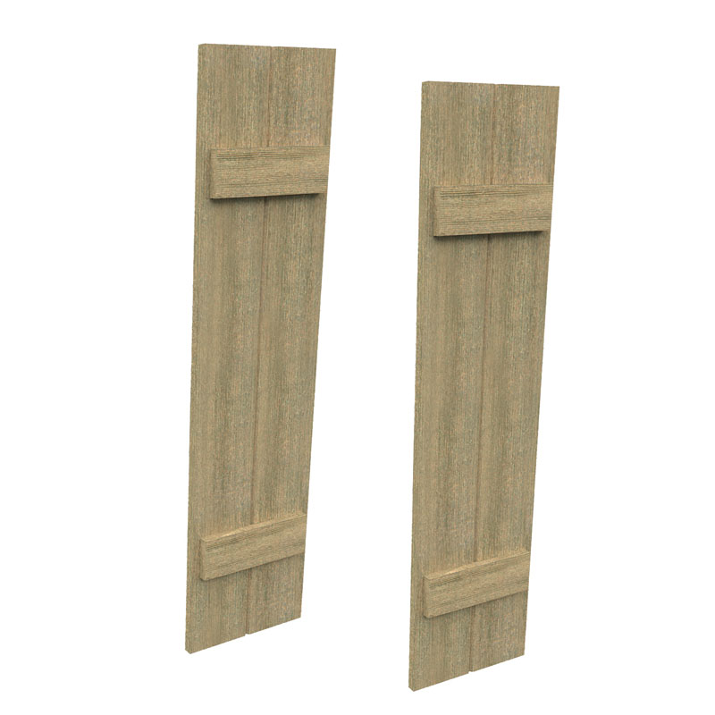 Fypon Urethane Timber Board 2 Batten Shutters 12 Wide