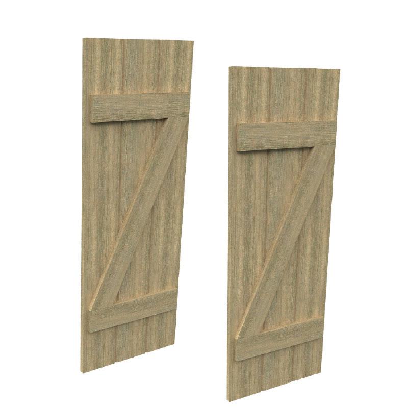 Fypon urethane timber board z batten shutters for Fypon faux wood beams
