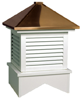 Stansbury Aluminum Louver Cupola With Copper Roof