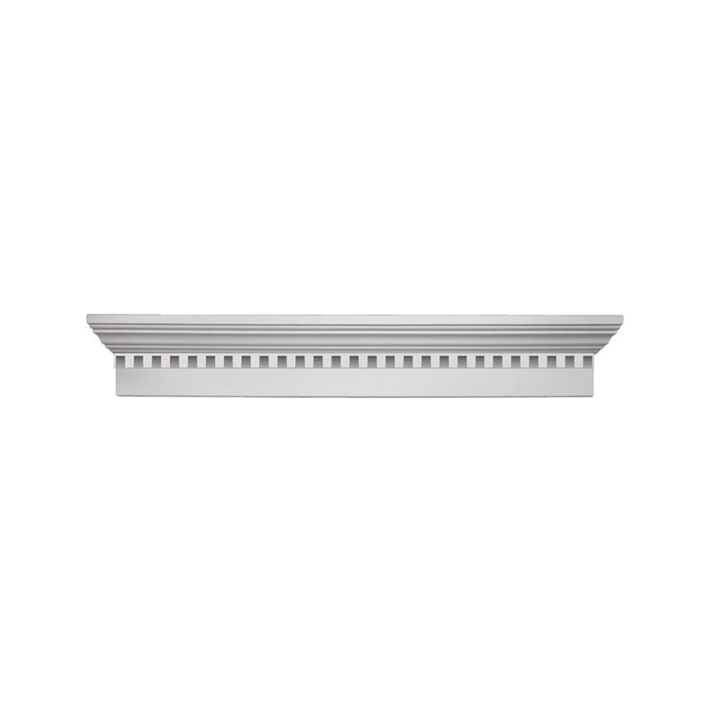 Fypon 6 crossheads with dentil trim for Fypon window pediments