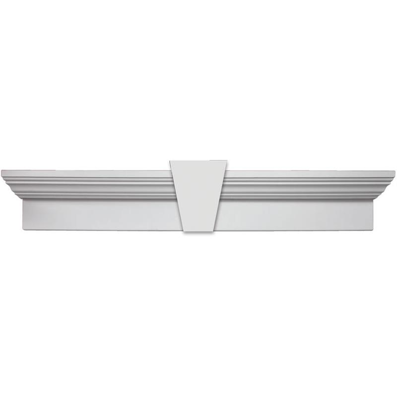 Fypon 6 crossheads with keystone for Fypon gable trim