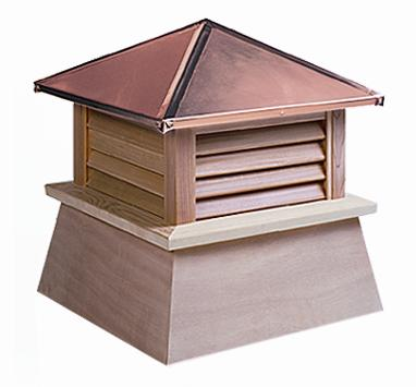 Wood Cupola Option Of Copper Or Aluminum Roof