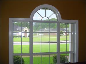 Curved window casing