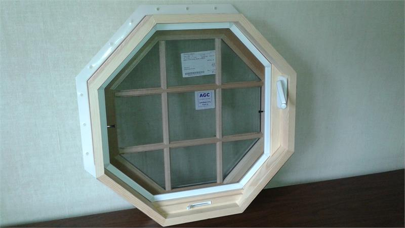 Owv 1 11 Venting Octagon Window 2 0 Quot Natural Wood
