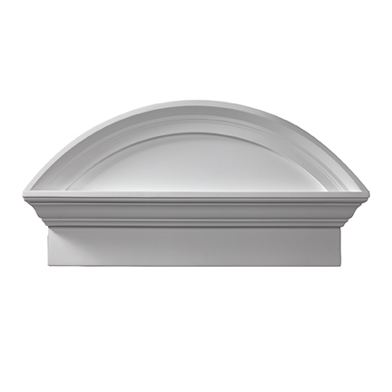 Csap38bt combination segment arch pediment with bottom trim for Fypon gable pediments