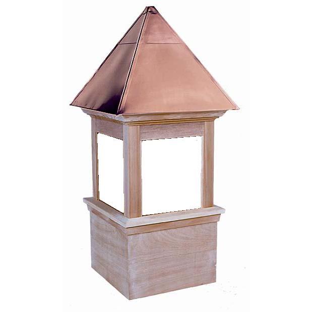 Wood Cupola Window Glass Newport Estate Series Copper Roof